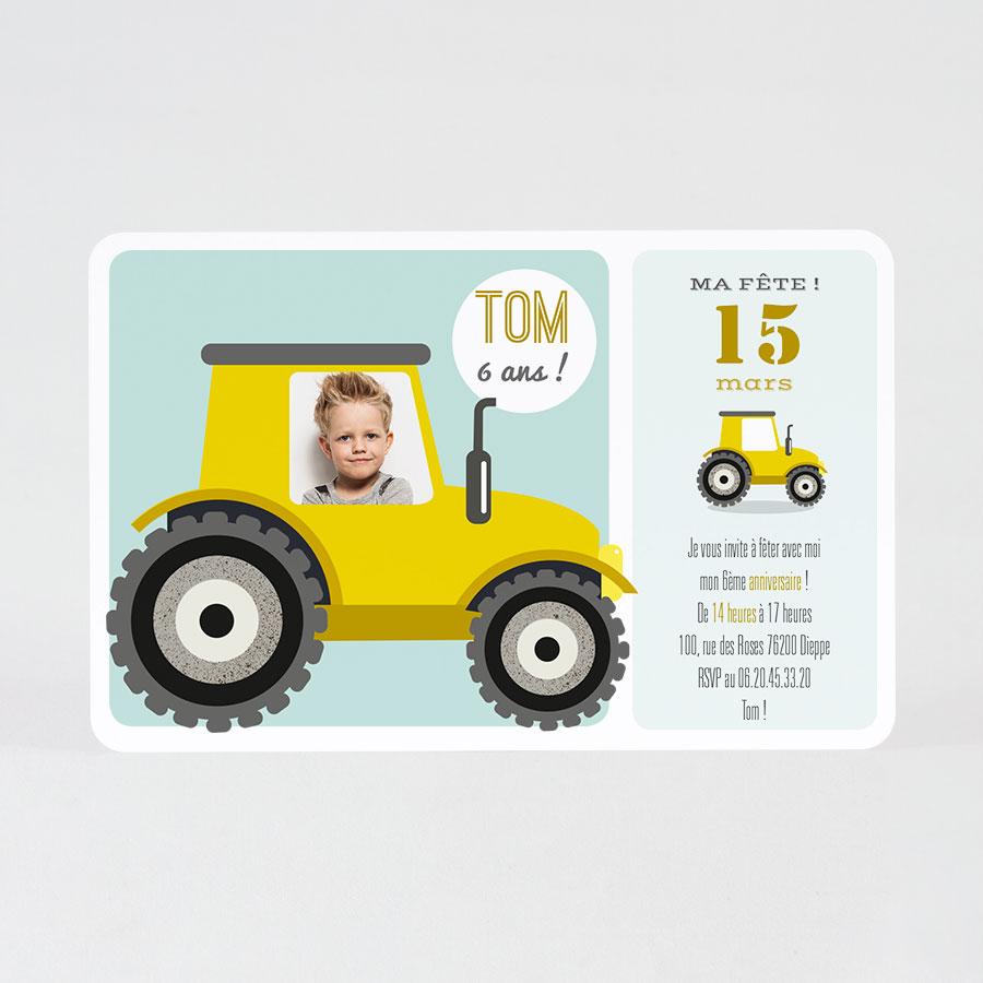 Carte D Invitation Anniversaire Enfant Tracteur Fete Tadaaz